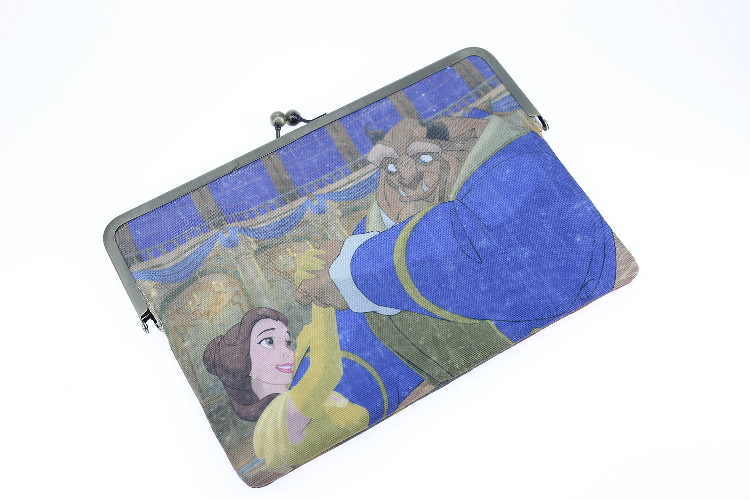 Beauty and the Beast Canvas Large Tote Shopping Gym Office Sholder Bag