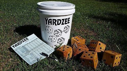 Amazon Com Giant Yardzee Farkle Cootie Family Games Summer Fun Barbeque Weddings Outdoor Yard Lawn Dice Handmade