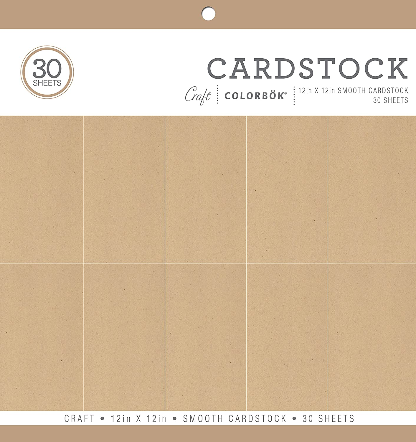12 x 12 ColorBok Smooth Cardstock Paper Pad Craft