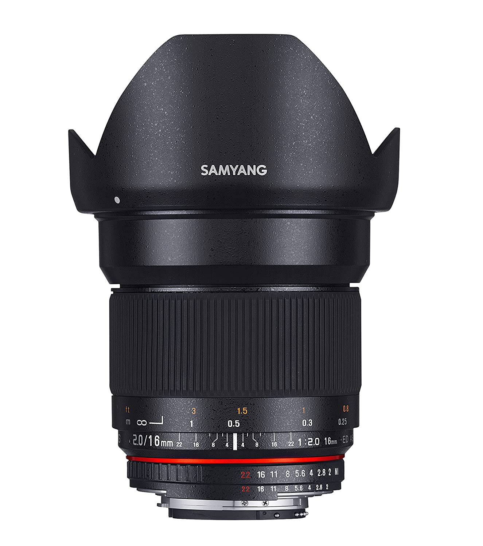 Samyang 16mm f//2.0 Sony A Objectif Noir