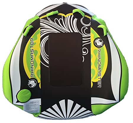 RhinoMaster Tough Seadragon 1-Person Inflatable Towable Boating, Green Black, 58 x 57