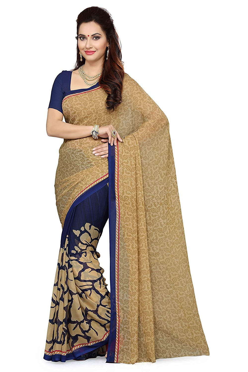 Best Combo Offer Georgette Saree with Blouse Piece