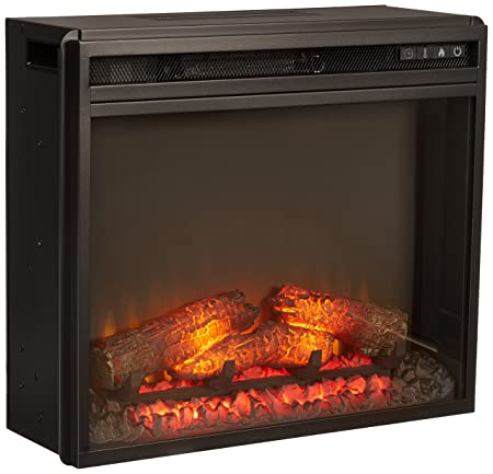 Ashley Furniture Signature Design – Small Electric Fireplace Insert – Includes Insert Only – TV Stand Sold Separately – Black