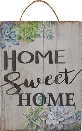 Amazon.com: Juvale Home Sweet Home adorno de pared ...