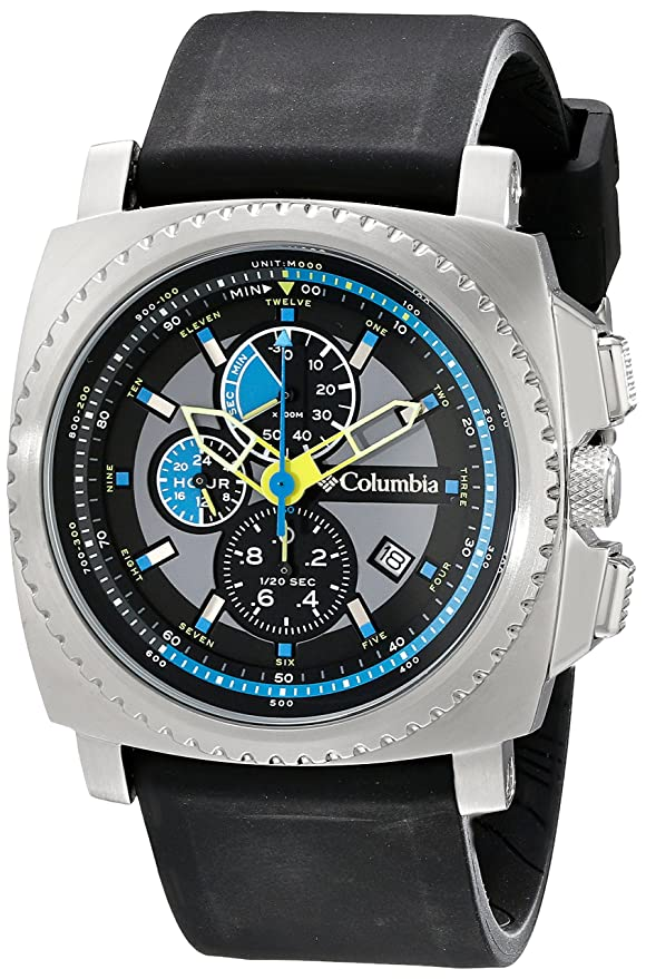 Amazon.com: Columbia CA100-007 AQ Alti Analog Water Resistant silicone Strap Watches - Silver: Watches