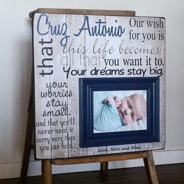 Amazon.com: Baptism Gift, Baptism Frame, Gift for Godson, Gift for ...