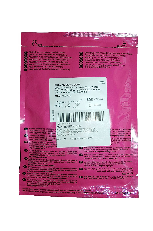 F7951 Par de almohadillas de desfibrilador desechables compatibles con Zoll Medical Corp y M&B - para adultos: Amazon.es: Industria, empresas y ciencia