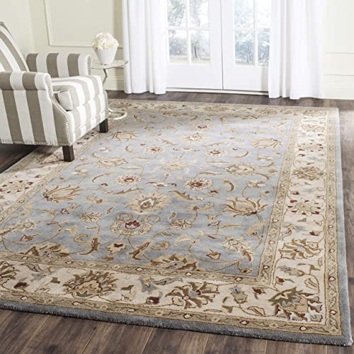 Safavieh Royalty Collection ROY343B Handmade Traditional Blue and Beige Wool Area Rug 8 x 10