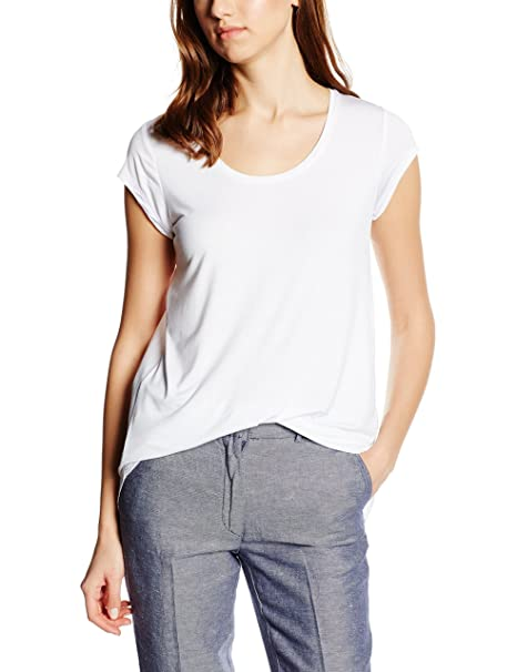 Cortefiel CTA P/P Lazo, Camiseta para Mujer, White, M