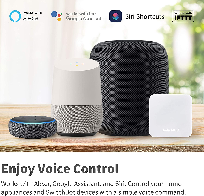 Commande Climatisation Google Home Port Infra-Rouge SwitchBot Hub Mini T/él/écommande Intelligente Compatible avec Alexa HomePod Wi-FI Compatible IFTTT