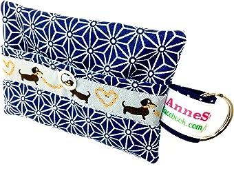 Kackbeutel blau Stern Hundekotbeutel Spender Hundetüte Leckerli Tasche aus Wachstuch Gassi gehen Waste Geschenk Hundebesitzer Poop Bag Chien