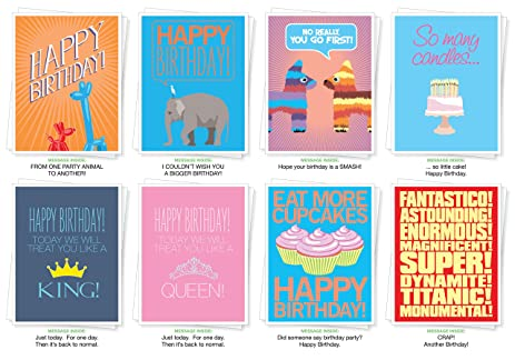 Amazon Assorted Best Selling Birthday Cards Set Of 8 Greeting