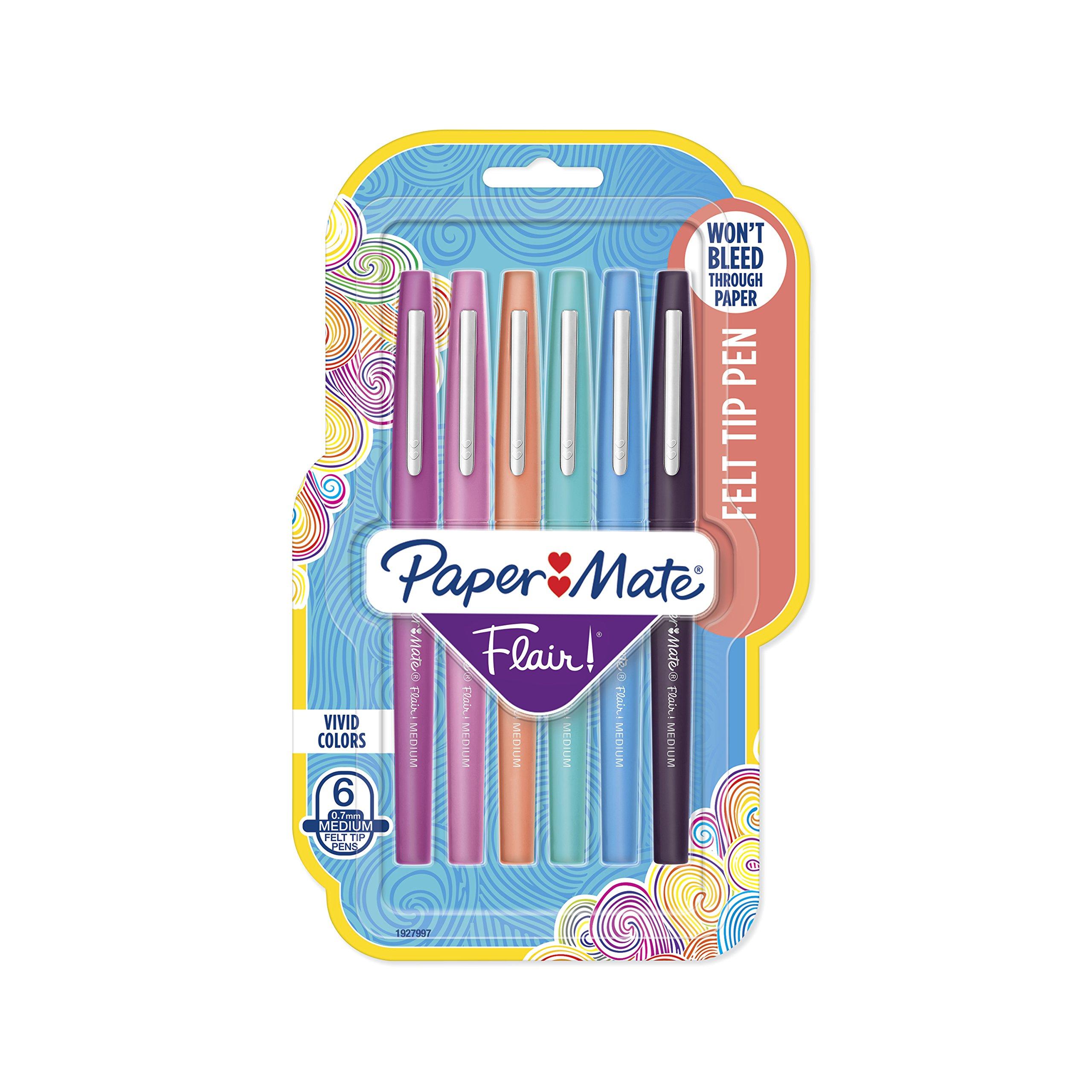 Paper Mate Flair Felt Tip Pens, Medium Point (0.7mm),...
