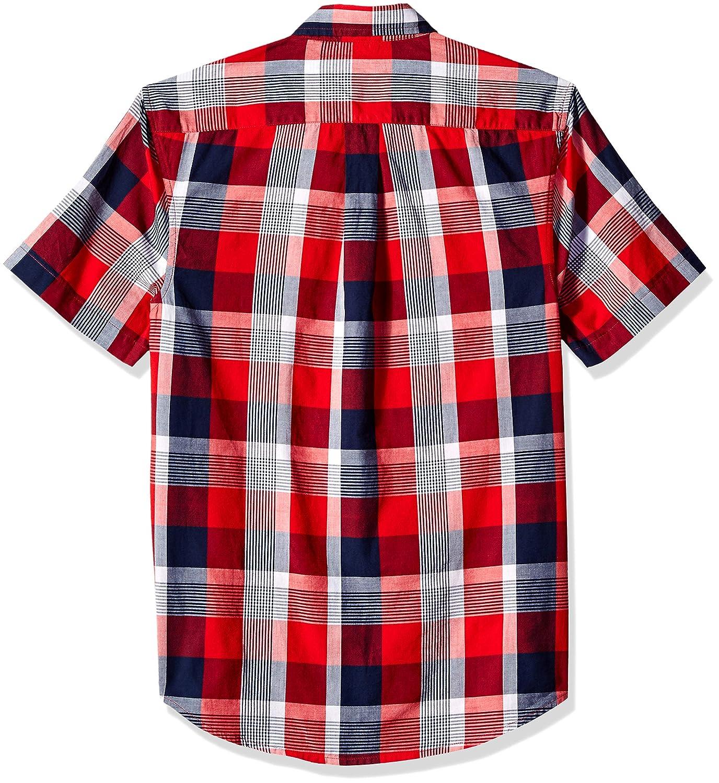Polo Assn Mens Short Sleeve Classic Fit Plaid Shirt U.S