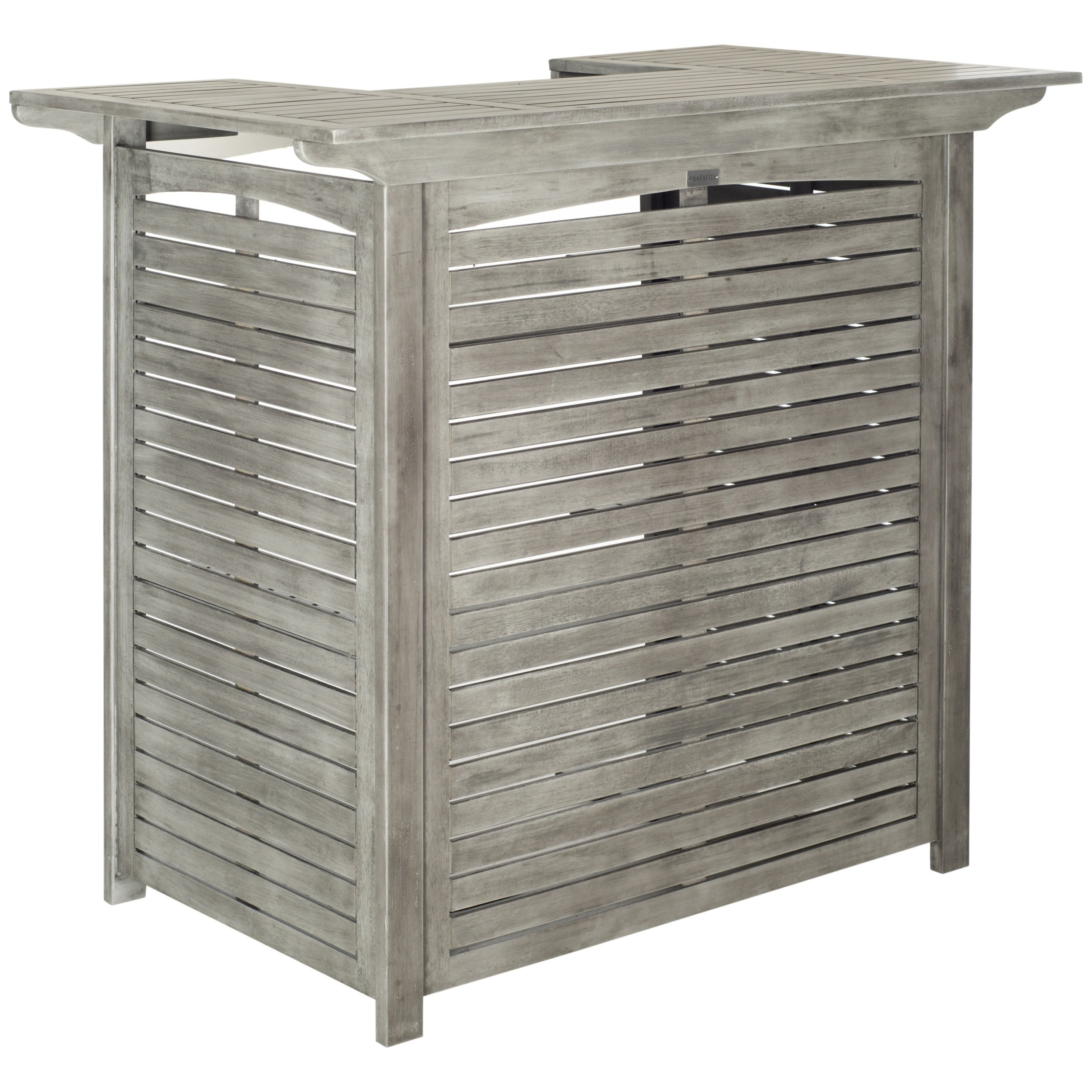 Safavieh Outdoor Living Collection Monterey Washed Bar Table, Grey
