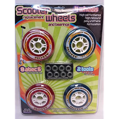 Motiv Scooter Replacemant Wheels and Bearings : Sports Scooter Wheels : Sports & Outdoors