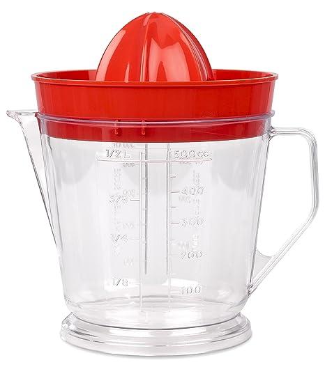 DBP Plastic M186 exprimidor de Limones/exprimidor plástico Rojo 12 x 12 x 15 cm
