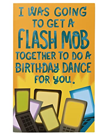 Amazon american greetings funny flash mob birthday card american greetings funny flash mob birthday card assorted 5540822 bookmarktalkfo Gallery