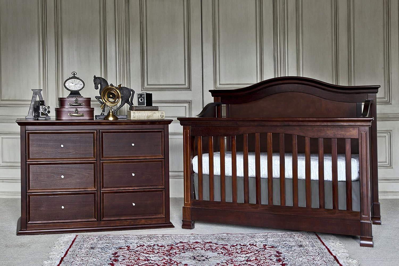 Amazon.com : Million Dollar Baby Classic Louis 4 In 1 Convertible Crib With  Toddler Bed Conversion Kit, Espresso : Davinci Crib : Baby