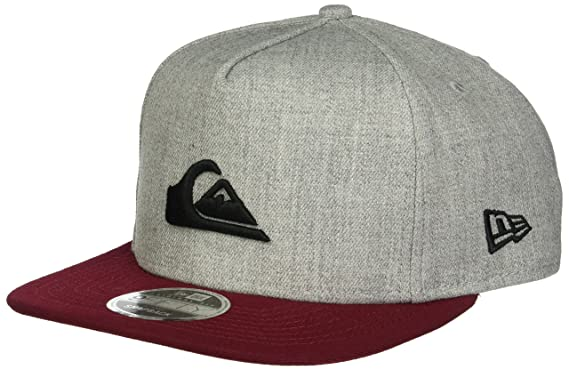 972ae26678e541 ... clearance quiksilver mens stuckles snap trucker hat light grey heather  one size b5880 e7f6f