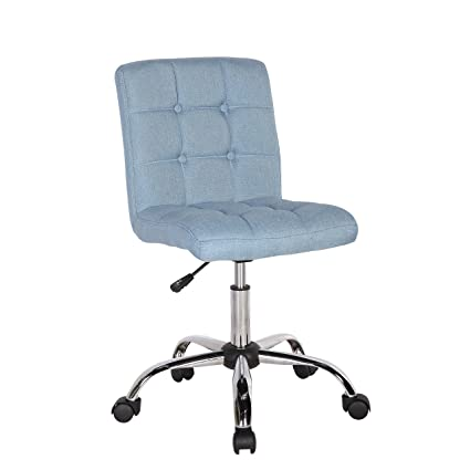 Porthos Home Alice Office Chair With Adjustable Height 360 Swivel Button Tufted Fabric Upholstery Metal Legs And Roller Caster Wheels