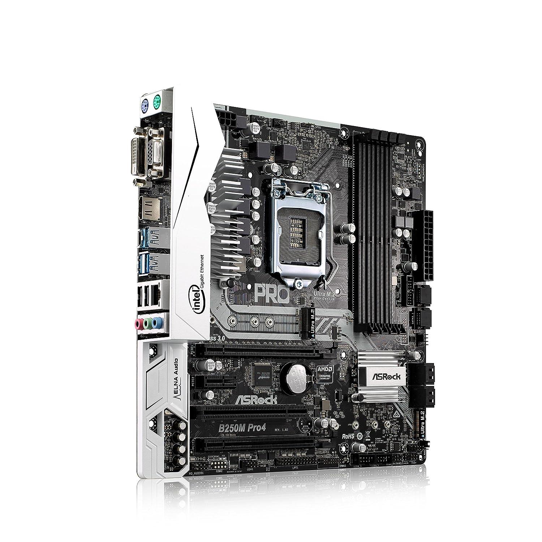 Black ASROCK B250M PRO4 S1151 mATX Intel B250 DDR4 Elegant Motherboard