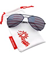 grinderPUNCH® American Flag Aviator Sunglasses Glasses