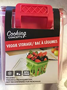 Reusable Fruit & Veggie Storage Container (Red)