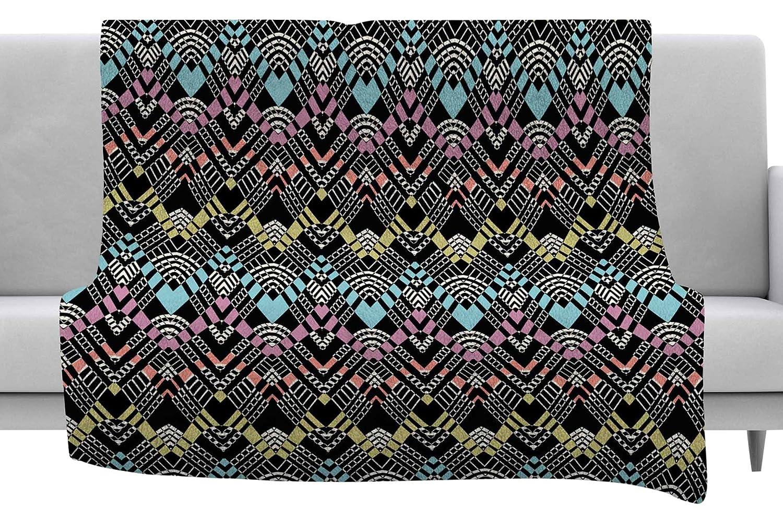 Amazon.com: KESS InHouse Victoria Krupp Tribal Zigzag Black ...