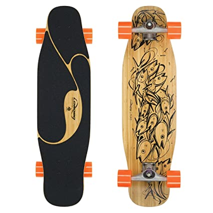 Loaded Boards Poke Bamboo Longboard Skateboard Complete 80a 4 President Wheels Carver CX4 Trucks