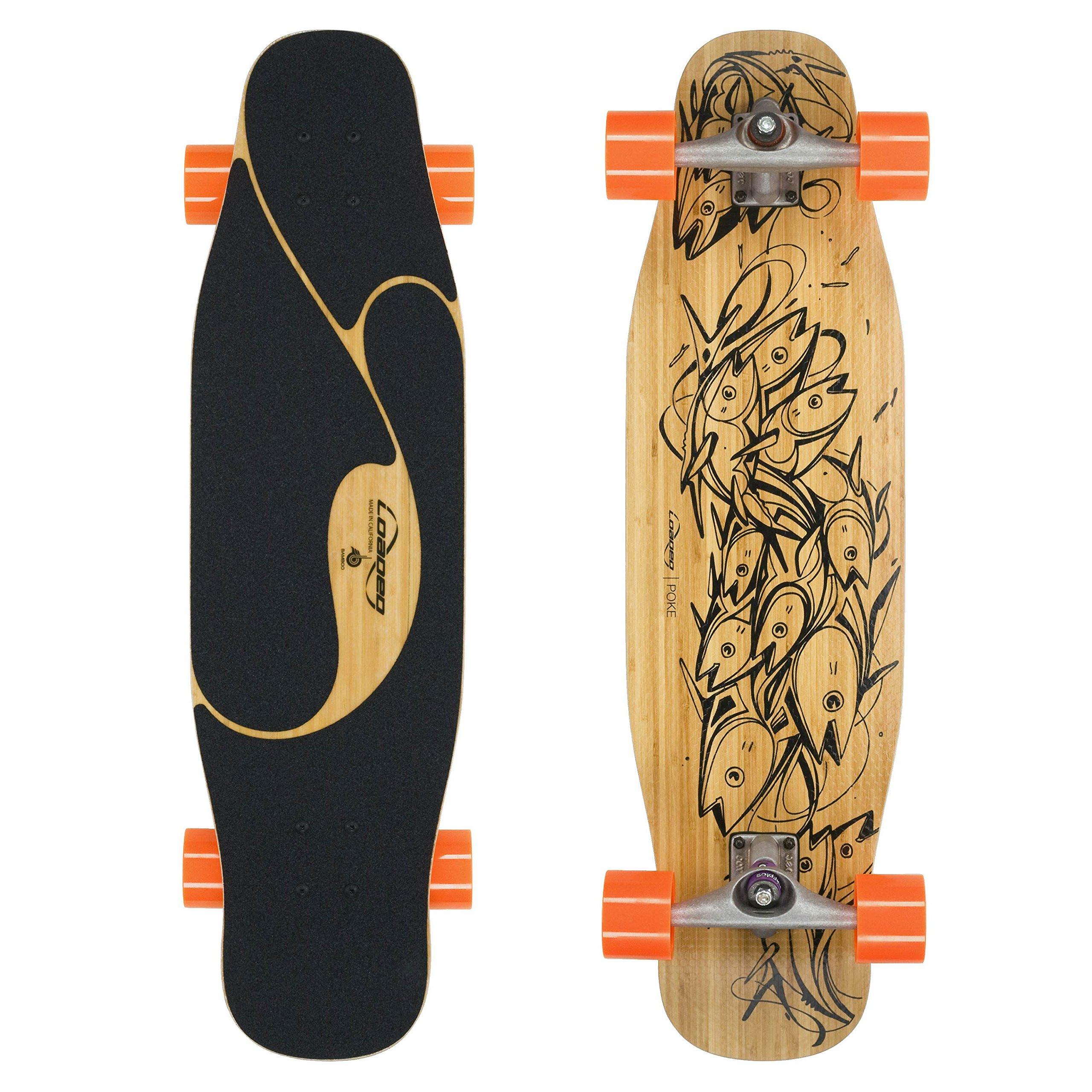 Loaded Boards Poke Bamboo Longboard Skateboard Complete