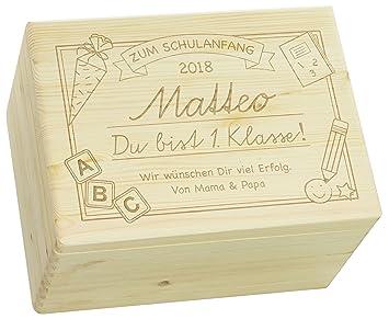 Holzkiste Dekokiste Birkenholz 40x30 cm Wunschname Wunschtext Aufbewahrungsbox