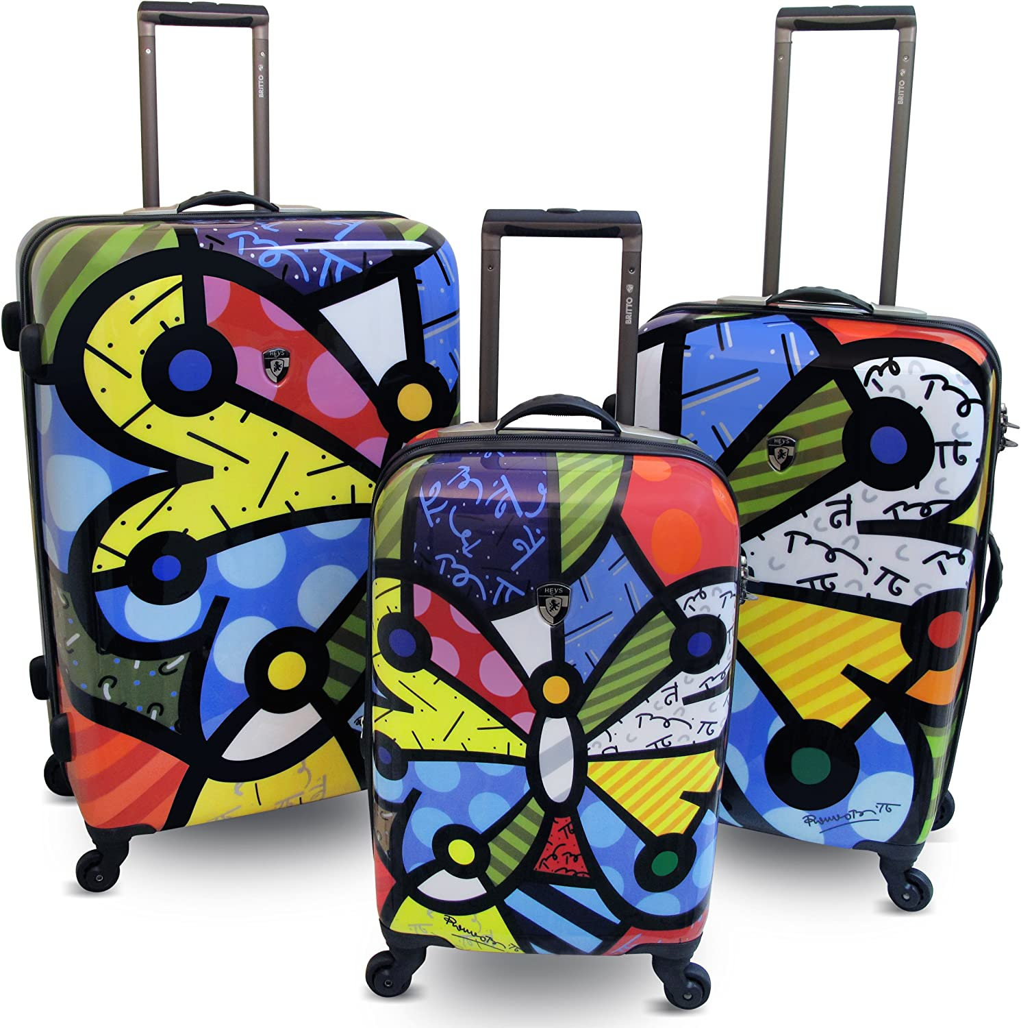 Heys USA Britto Butterfly Hardside Luggage 3 pc Set