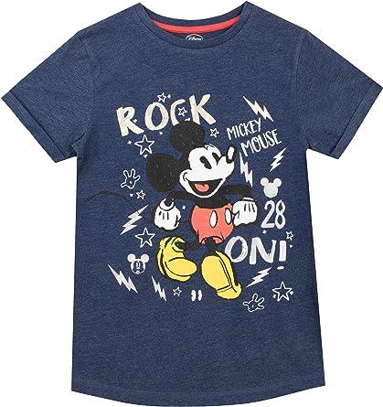 Disney Camiseta para niño Mickey Mouse Azul 4-5 Años: Amazon.es: Ropa y accesorios
