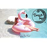 Beach Toy ® - Gigante Galleggiante gonfiabile Fenicottero Rosa, Light pink Flamingo Pool party