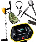 "MYLEK® XP pLus All Terrain Metal Detector Kit • FREE Headphones & 3-in-1 Shovel Tool Included • Detects all Gold, Silver, Ferrous and Non-Ferrous Metals • Lightweight, Compact & Robust Design • Discriminates Between Different Types of Metals • View Meter, Pointer, 6.5"" Waterproof Search Coil & Low Battery Indicator • Adjustable Stem, Volume Control & Arm Rest • For Adults, Children, Beginners and Intermediate Metal Detecting Enthusiasts"