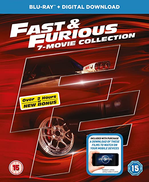 Fast And Furious 1-7 + Bonus Disc +Uv - Bonus Disc 8 Blu-Ray ...