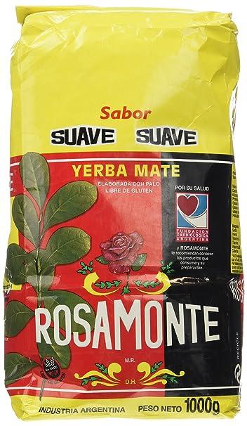 Yerba mate Rosamonte Suave 1Kg: Amazon.es: Alimentación y ...