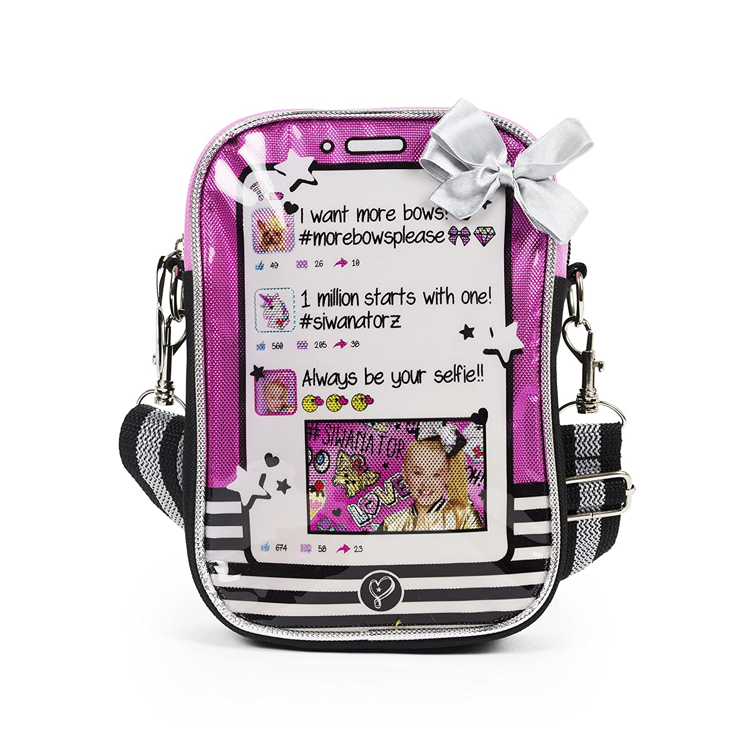 Nickelodeon JoJo Siwa Grey Bow Crossbody Bag for Girls Fab KADJJSXB
