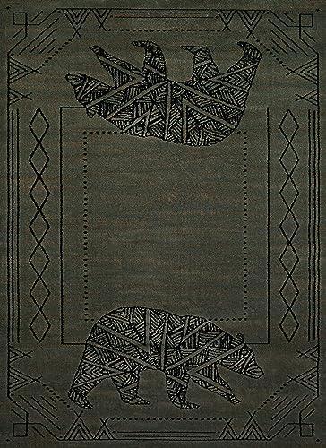 United Weavers of America Affinity Bear Cave 7 10 x 10 6 Rug, Blue Grey
