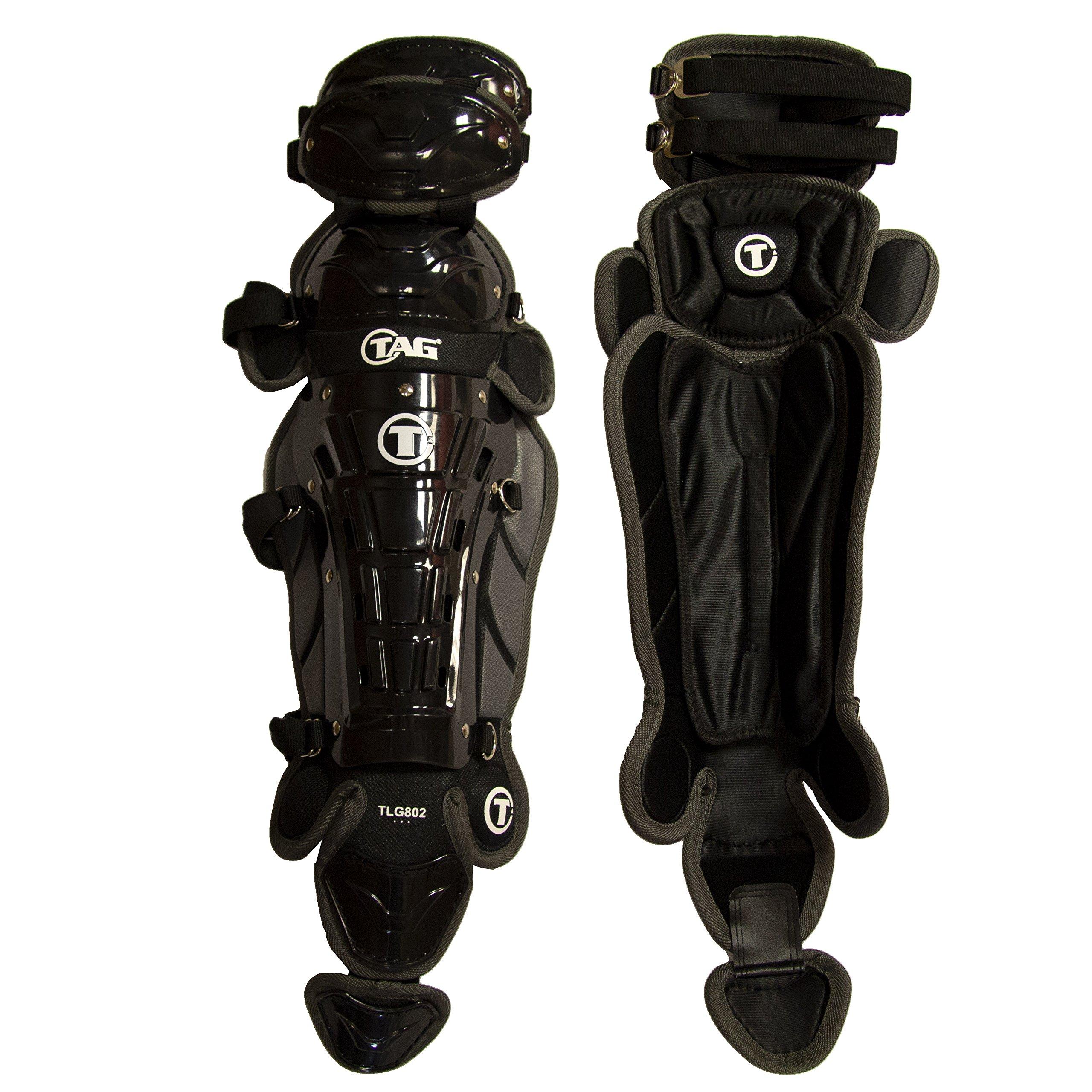 TAG 16'' Pro Series Women's Leg Guard, Black/Grey by TAG