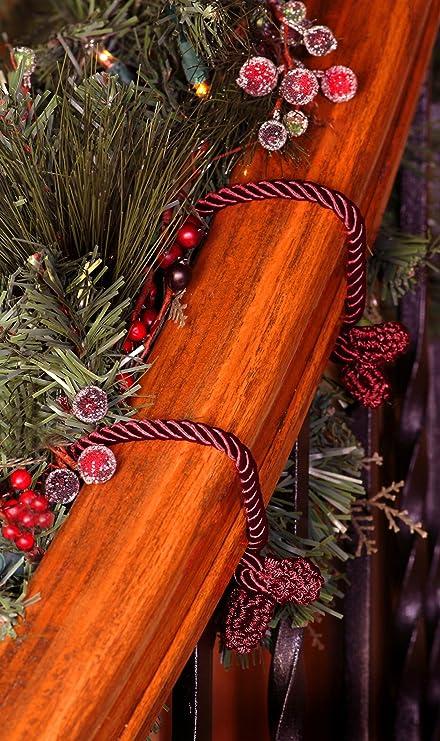 20 inch Haute Decor Decorative Garland Ties Burgandy 6 Pack