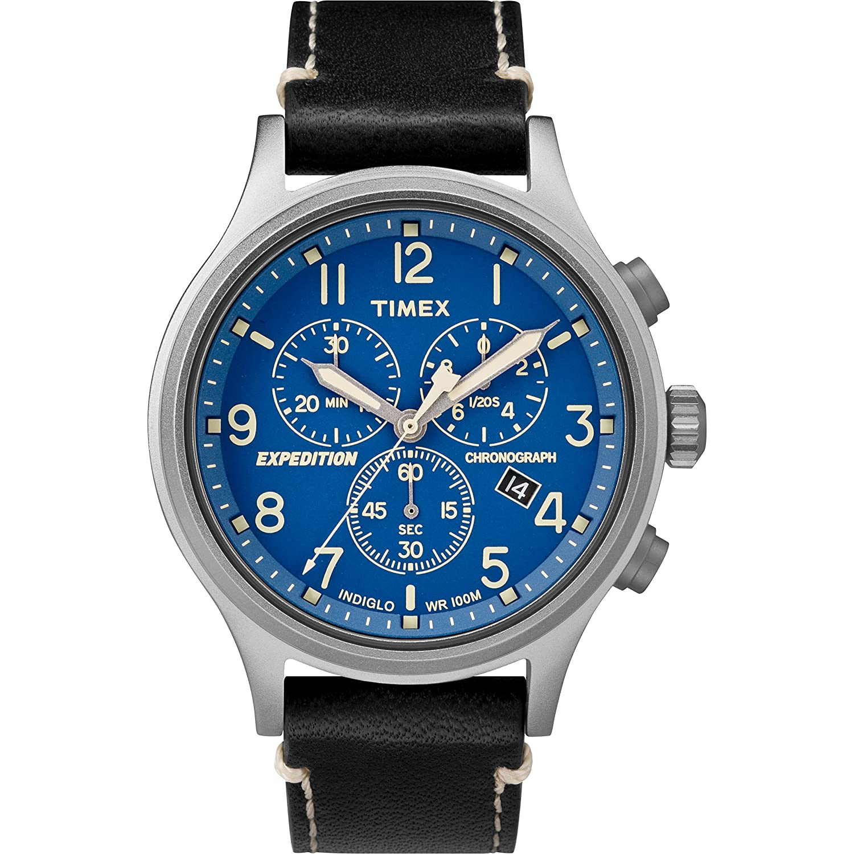 Amazon.com: Timex Men\'s TW4B12400 Expedition Scout Chrono Black/Blue ...