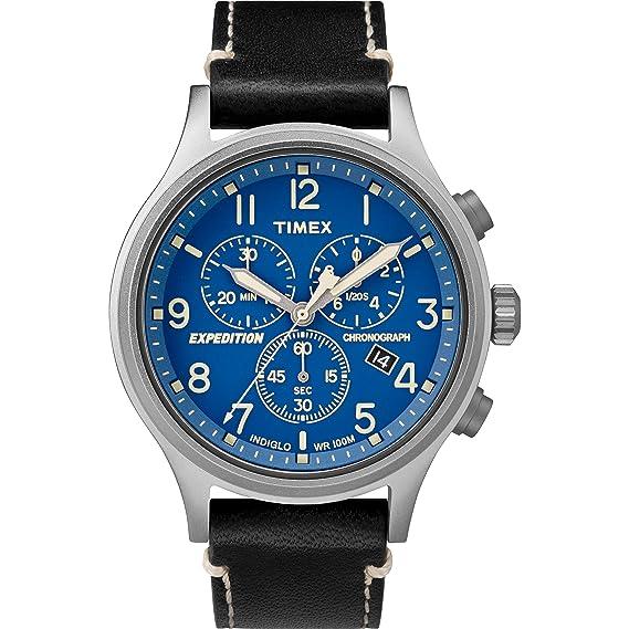 Timex Reloj Analógico para Hombre de Cuarzo con Correa en Cuero TW4B12400: Amazon.es: Relojes