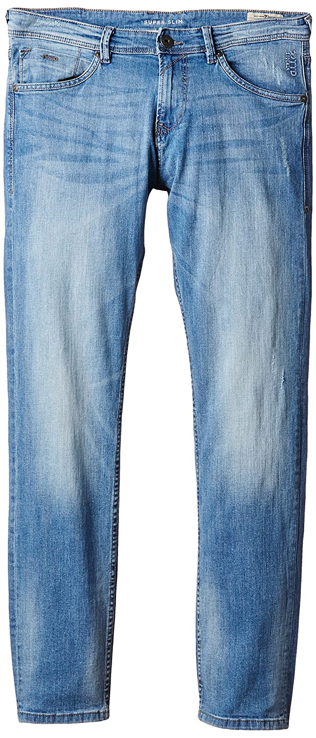 Mens Piers Super Slim Bleach Denim/507 Slim Tom Tailor Denim MriGDo4GRk