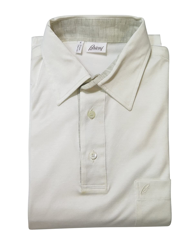Brioni Ivory Short Sleeve TShirt Size S