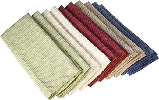 Eurow Microfiber Waffle Weave Fast Dry Kitchen Towels (10-pack)