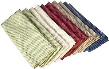 eurow microfiber waffle weave kitchen towels 10 pack. beautiful ideas. Home Design Ideas