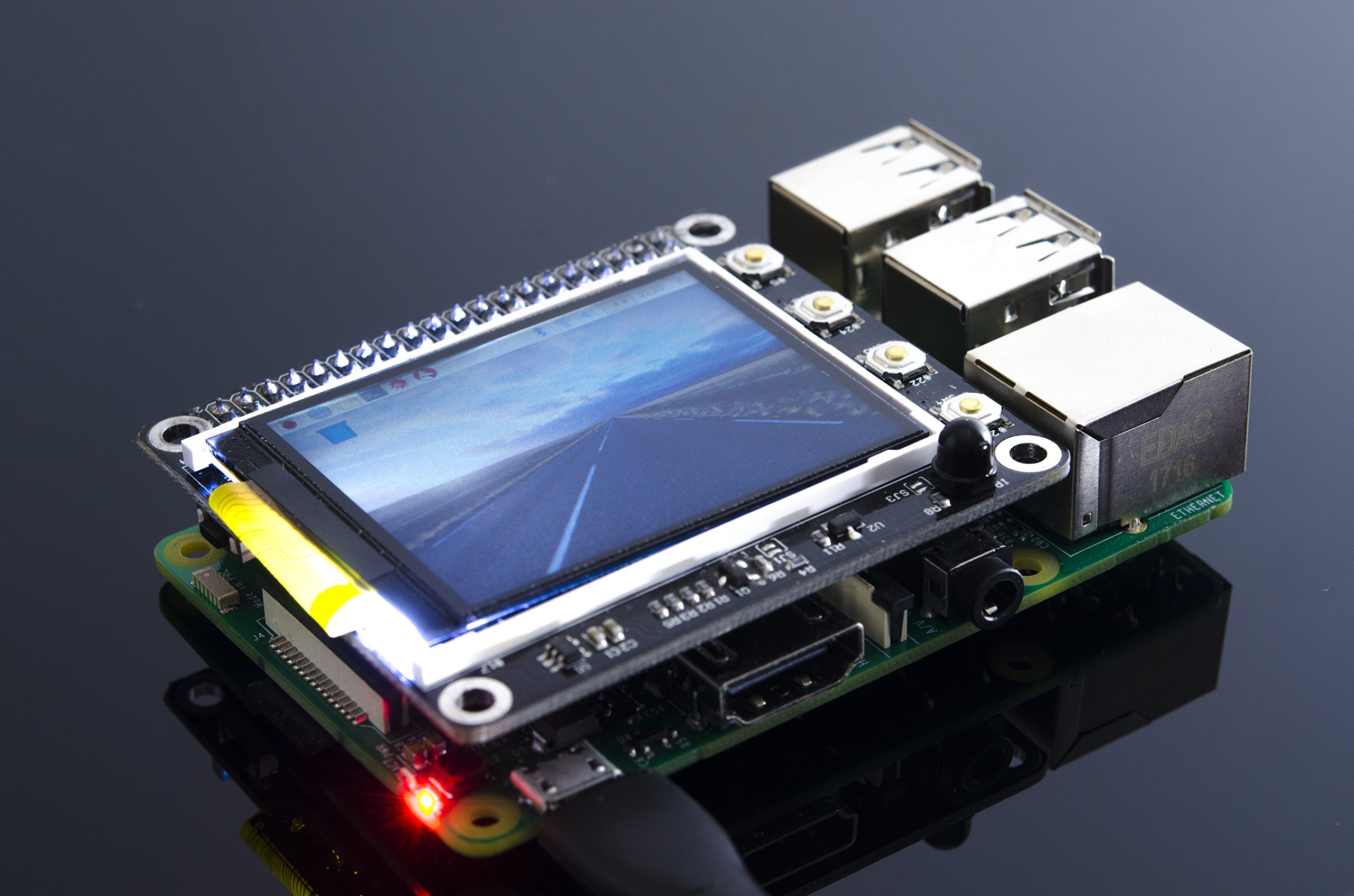 ACROBOTIC TFT 2.2'' 320×240 Display HAT for Raspberry Pi PiTFT (No Touch)