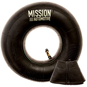 "Mission Automotive 2-Pack of 4.10/3.50-4"" Premium Replacement Tire Inner Tubes - for Hand Trucks, Dollies, Wheelbarrows, Lawn Mowers, Trailers and More - Tube for 4.10 3.50-4/410/350-4 Wheel"